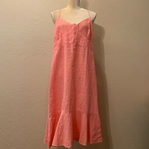 NWT Relax By Kiko 100% Linen Halter Dress